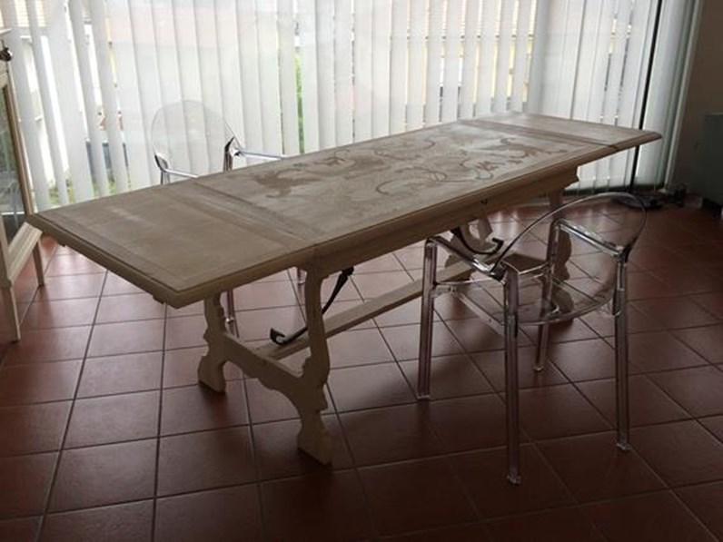 Tavoli Allungabili Ricci Casa.Tavolo Rettangolare Marchetti Fg576 In Legno Massello Patina Maestrale