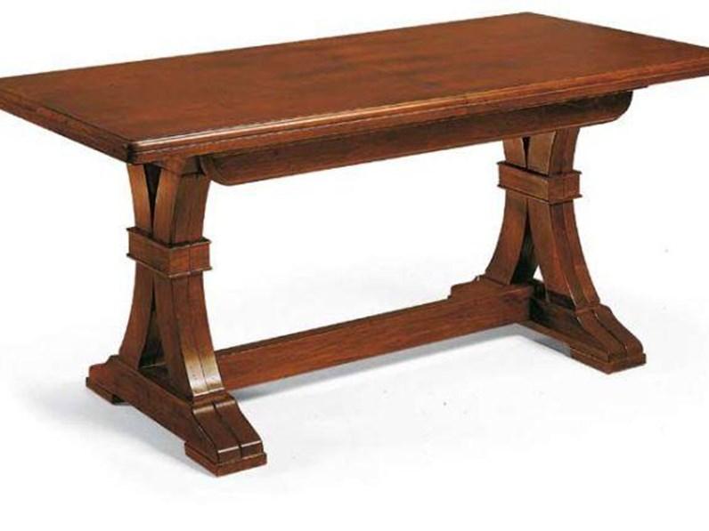 Tavolo rettangolare noce a metà prezzo