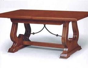Tavolo rettangolare noce con ferro a prezzo ribassato