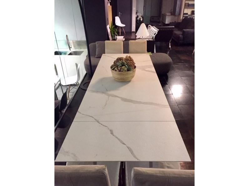 Tavolo riflessi shangai allungabile ceramica inox specchiato scontato 30 - Tavolo riflessi shangai allungabile ...