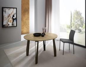 Tavolo rotondo a quattro gambe Jet + 4 sedie bla bla Artigianale scontato
