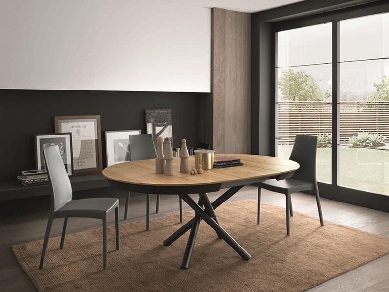 tavolo rotondo allungabile round artigianale in offerta