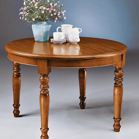 Tavolo rotondo allungabile tutto in legno style classico tavoli a prezzi scontati - Tavolo allungabile classico ...