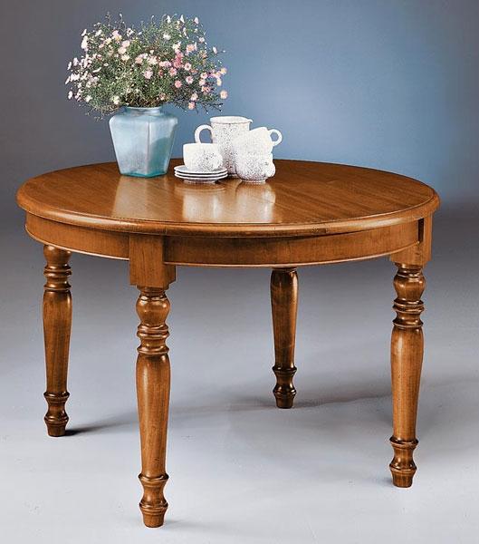 tavolo rotondo allungabile tutto in legno style classico