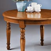 tavolo rotondo allugabile ovale in legno scontato outlet Mottes mobili