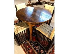 Tavolo rotondo con basamento a quattro gambe Cortina di Lando