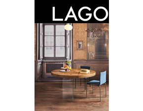 Tavolo rotondo con basamento centrale Air tondo wildwood Lago scontato