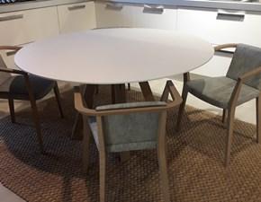 Tavolo rotondo con basamento centrale Alf tavolo e sedie Alf scontato