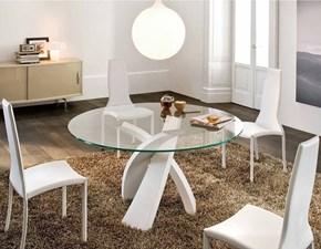 Tavolo rotondo con basamento centrale Eliseo Tonin casa scontato