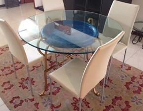 Tavolo rotondo con basamento centrale Oroblu Talenti outdoor scontato