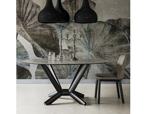 Tavolo rotondo con basamento centrale Planer keramik round Cattelan italia scontato