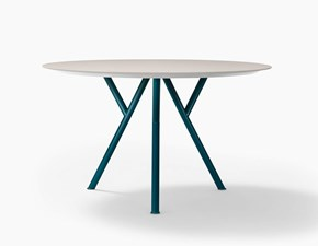 Tavolo rotondo con basamento centrale Sunny design Novamobili scontato