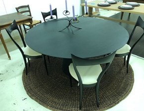 Tavolo rotondo con basamento centrale Tavolo artigianale Artigianale scontato