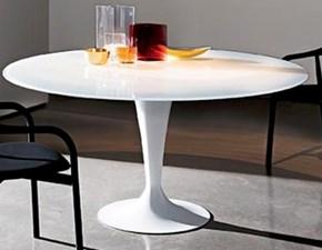 Tavolo rotondo in ceramica Flûte Sovet in Offerta Outlet