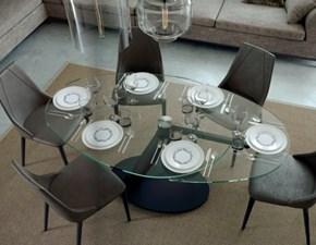 Tavolo rotondo in cistallo allungabile di nuova produzione in promo lancio