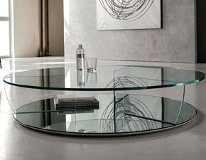 Tavolo rotondo in cristallo trasparente Kadir Cattelan scontato
