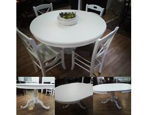 Tavolo rotondo in laccato Maiorca Artigianale in Offerta Outlet