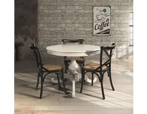 Tavolo rotondo in legno Art 14680 Artigianale in Offerta Outlet
