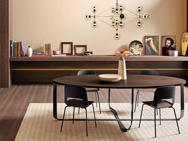 Tavolo rotondo in legno confluence di pianca in offerta outlet for Outlet tavoli design