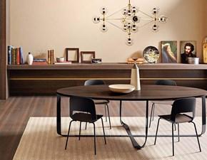 Tavolo rotondo in legno Confluence di Pianca in Offerta Outlet