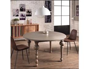 Tavolo rotondo in legno Jala Md work in Offerta Outlet