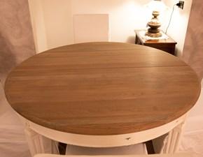 Tavolo rotondo in legno Tavolo legno naturale allungabile bianco  Artigianale in Offerta Outlet