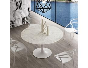 Tavolo rotondo in pietra Island marble La seggiola in Offerta Outlet