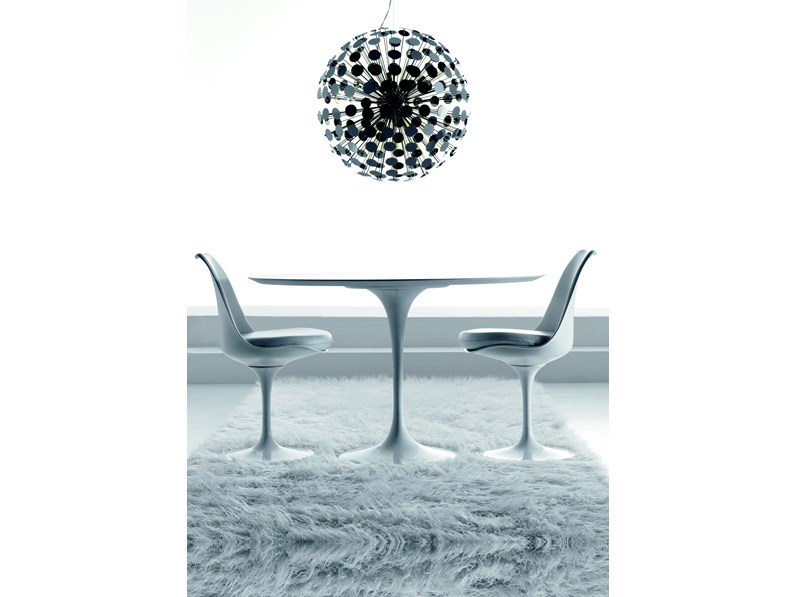 Tavolo Tondo Diametro 80.Tavolo Rotondo In Pietra Saarinen Made In Italy Diametro 80