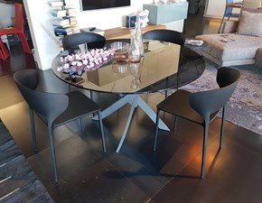 Tavolo rotondo in vetro Barone Bontempi casa in Offerta Outlet
