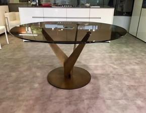 Tavolo rotondo in vetro Epsylon - diametro 140 - ottone e bronzo Fiam italia in Offerta Outlet