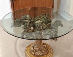 Tavolo rotondo in vetro Mantellassi Artigianale in Offerta Outlet