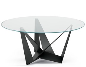Tavolo rotondo in vetro Skorpio round Cattelan in Offerta Outlet