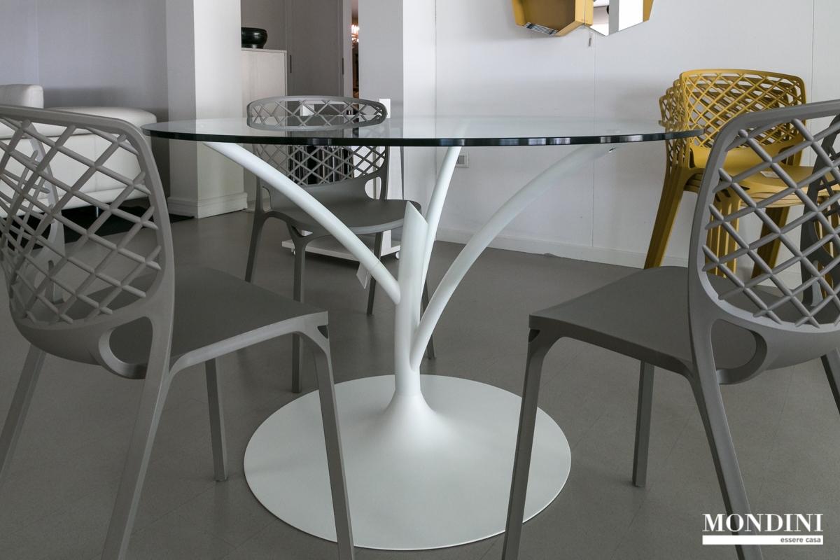 Tavolo rotondo modello acacia di calligaris scontato del - Tavolo rotondo allungabile calligaris ...