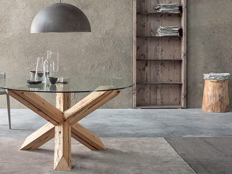 Tavolo rotondo piano vetro trasparente - Ricci casa tavoli ...
