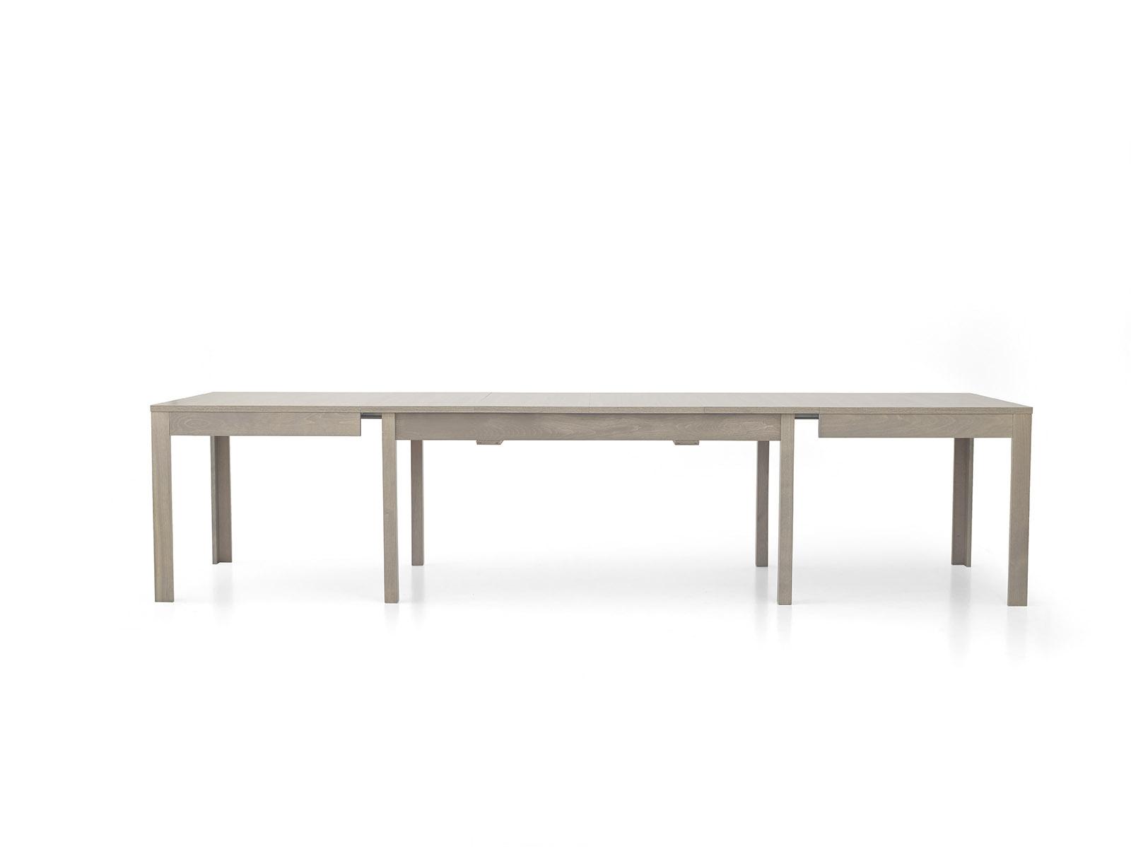 Tavolo rovere grigio rettangolari allungabili legno for Tavolo allungabile grigio