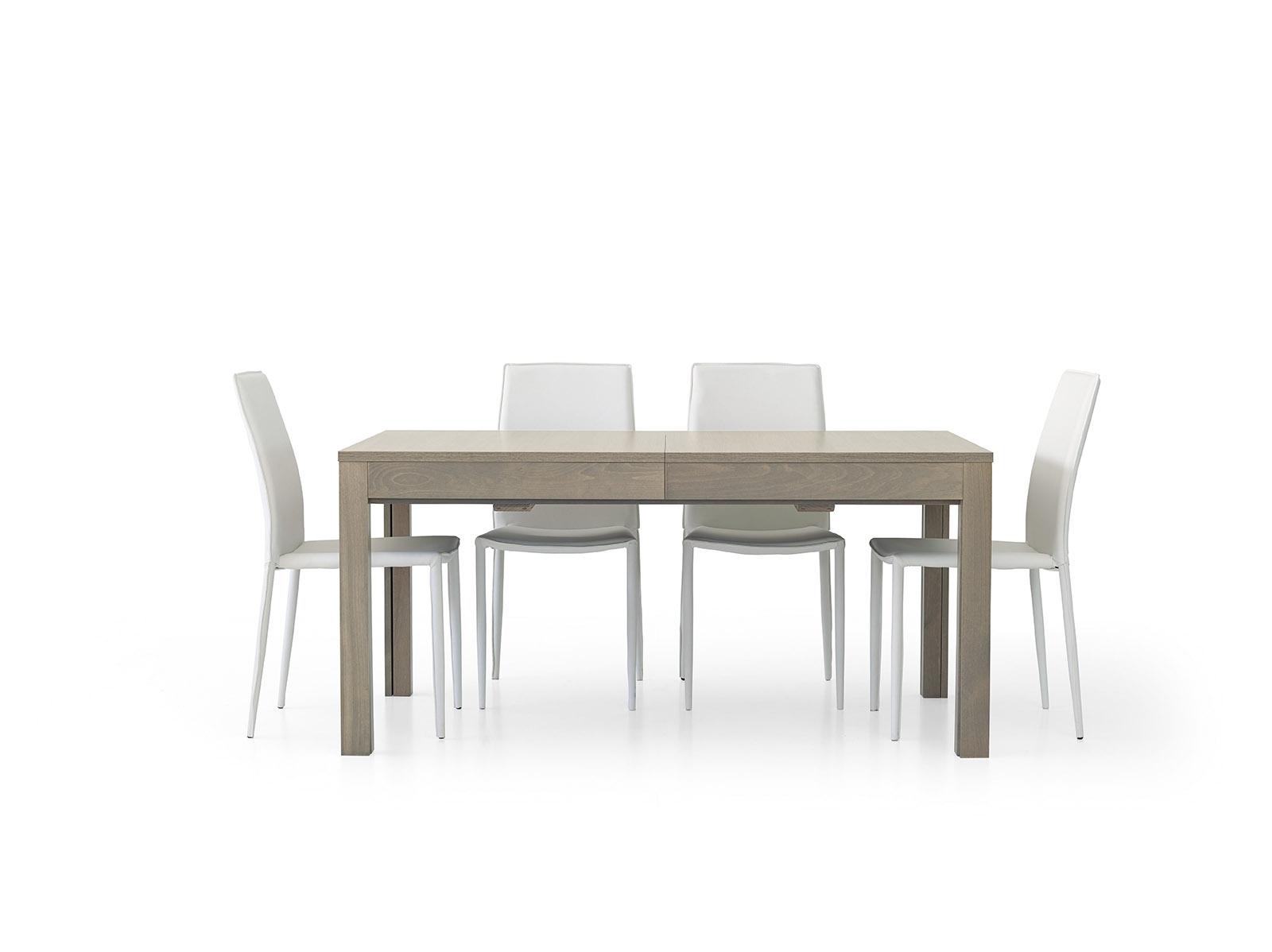 tavolo rovere grigio rettangolari allungabili legno