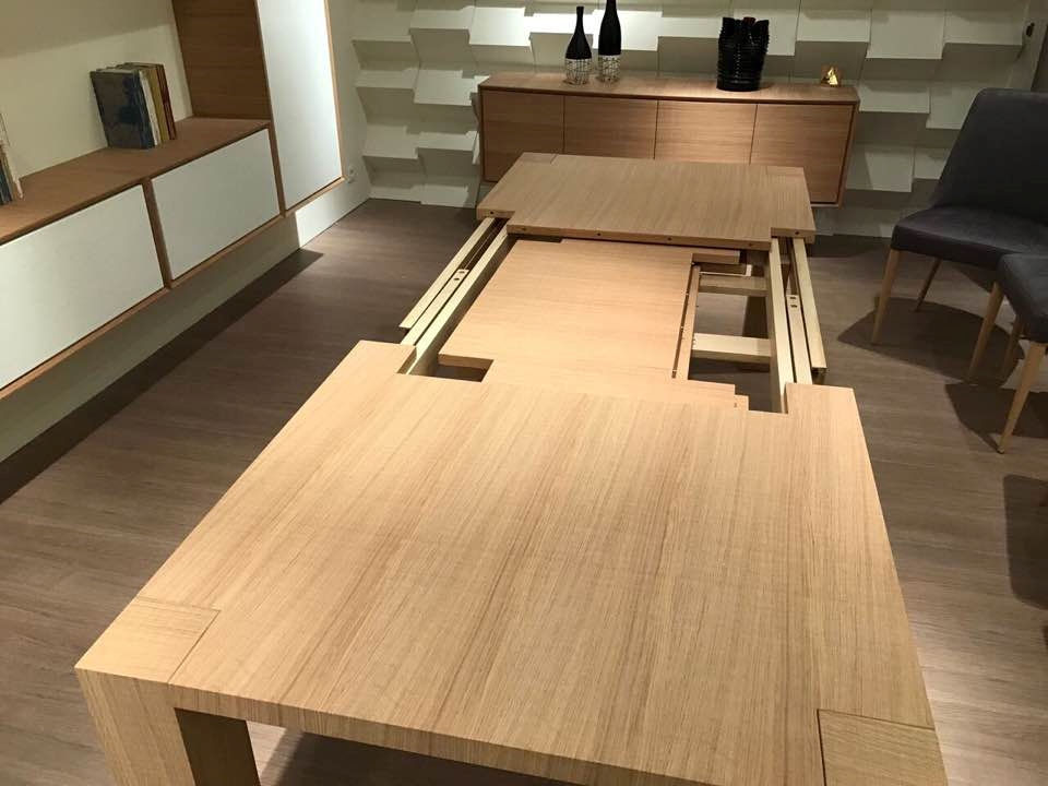 Tavolo rovere naturale seghettato allungabile tavoli a - Meccanismo per tavolo allungabile ...