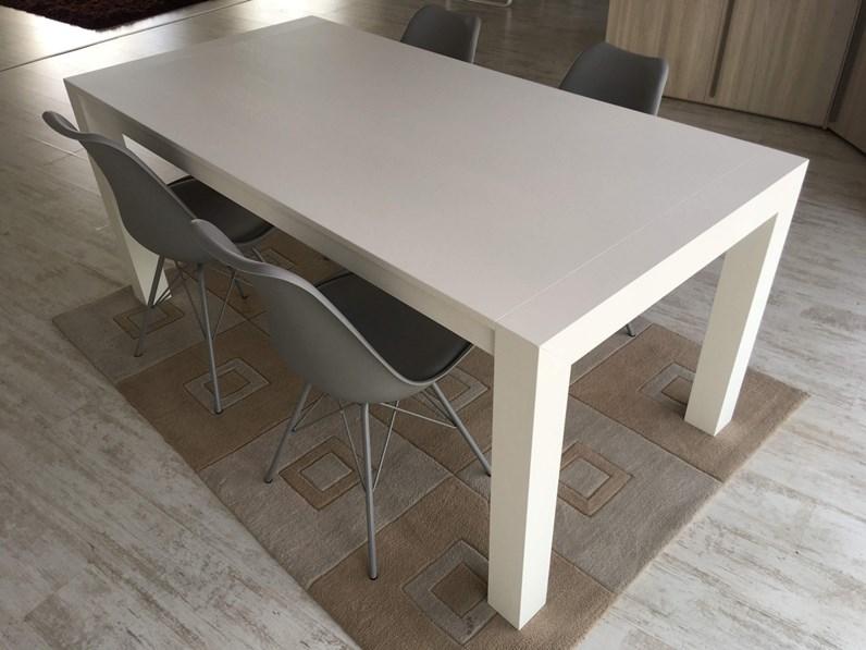 Tavolo rovere verniciato bianco dim. 180x90 cm allungabile sino a ...
