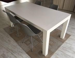 Tavolo rovere verniciato bianco dim. 180x90 cm allungabile  sino a 280 cm Artigianale