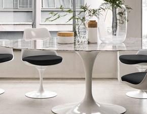 Tavolo Saarinen 7692 Alivar in marmo Fisso