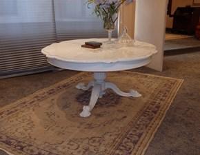 Tavolo sagomato con basamento centrale Fiore Artigianale scontato