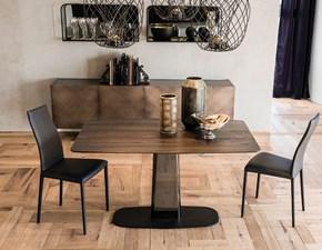 Tavolo sagomato con basamento centrale Linus wood Cattelan scontato