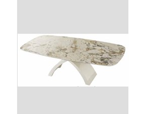 Tavolo sagomato con basamento centrale Tokyo ceramic Mottes selection scontato
