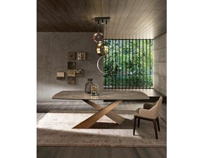 Tavolo sagomato in ceramica Living ceramica Riflessi in Offerta Outlet