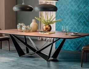 Tavolo sagomato in legno Skorpio Cattelan in Offerta Outlet