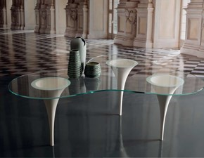 Tavolo sagomato in vetro Luxury table  italy design Md work in Offerta Outlet