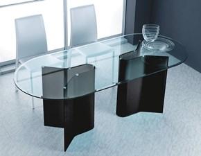 Tavolo sagomato in vetro Tavolo in cristallo sagomato mod.pegaso scontato del 30% Artigianale in Offerta Outlet
