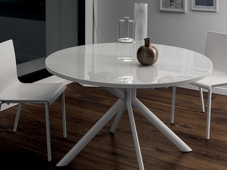 Tavolo scavolini hover rotondi rotondi allungabili vetro for Tavoli rotondi moderni allungabili