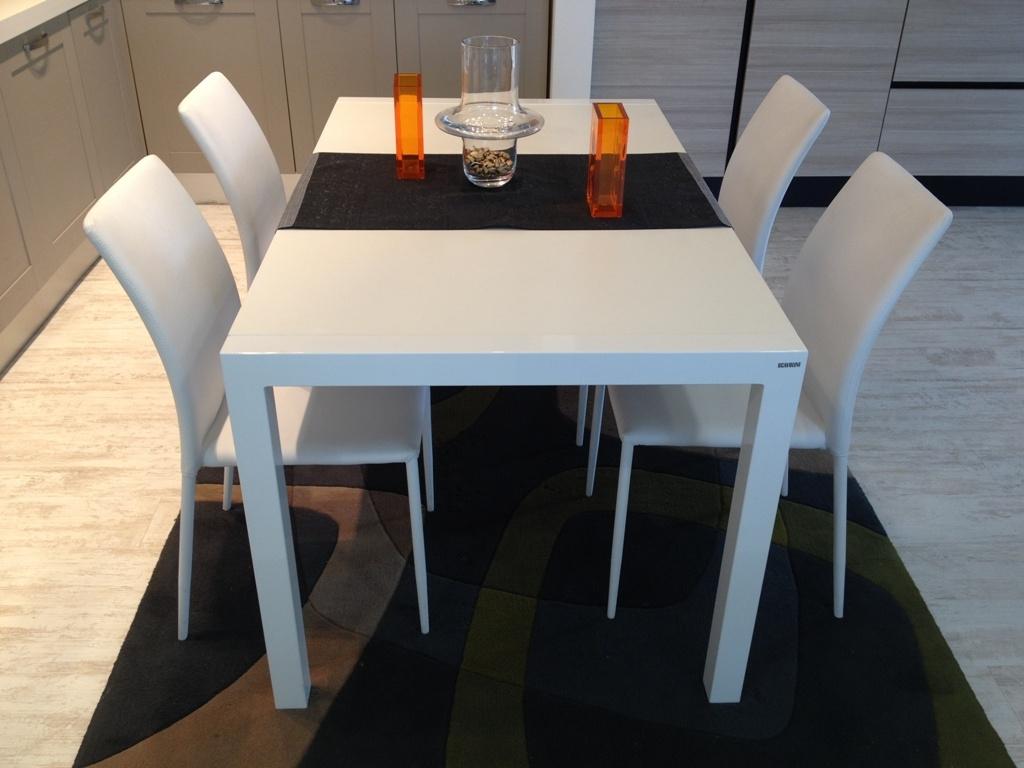 Tavolo Scavolini mod. quadrifoglio bianco 150 x 90 cm All. -33% - Tavoli a prezzi scontati