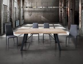 Tavolo scortecciato in legno rovere massello Tempor 800 in Offerta Outlet